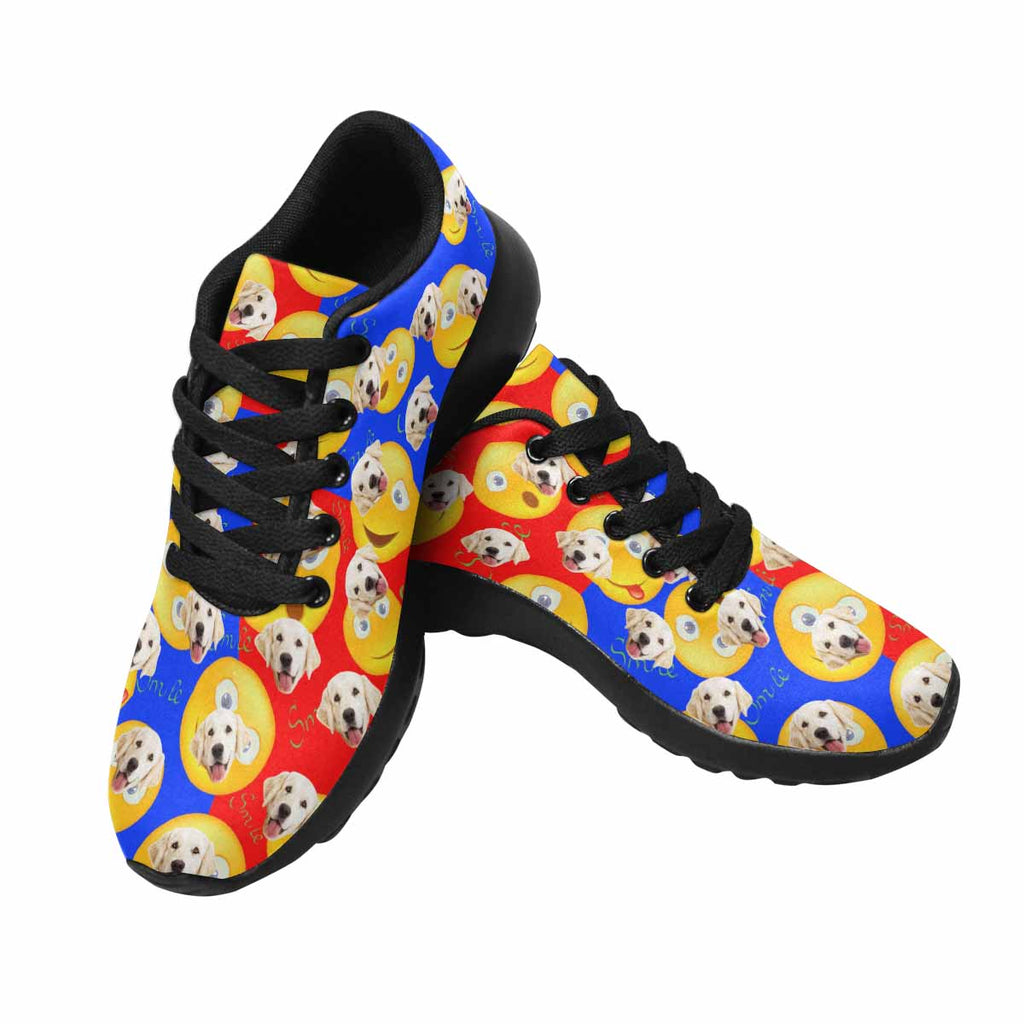 Personalized Picture Cheerful Smile Emoji Dog Women's Running Shoes