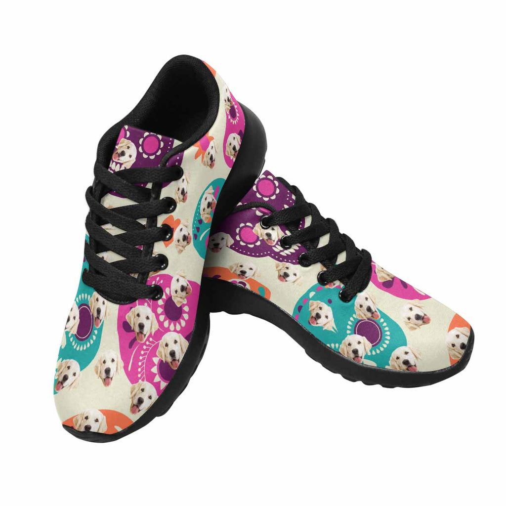 Personalized Picture Cute Colorful SKull Pup Women's Running Shoes