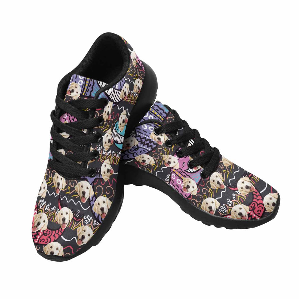 Custom Printed Colored Whales Pet Women's Running Shoes