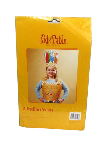 Kids' Table Children's Thanksgiving Indian Party Vest, 2 count