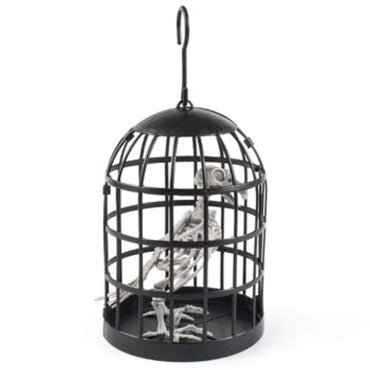 DollarItemDirect SKELETON CROW IN BIRDCAGE HANGING/TABLE DECOR HLWN HT, Case Pack of 12