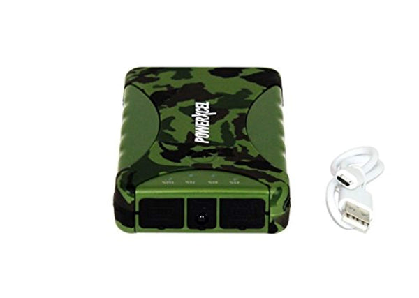 PowerXcel 10000 mAh Water Resistant Rechargeable Power Bank - Retail Packaging - Camo