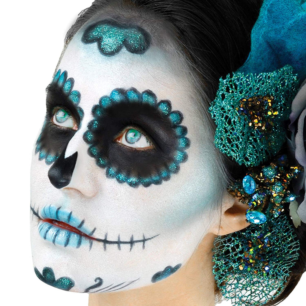 Loftus International Woochie Day of the Dead Sugar Skull Complete 10pc 23g Makeup Kit Teal Novelty Item