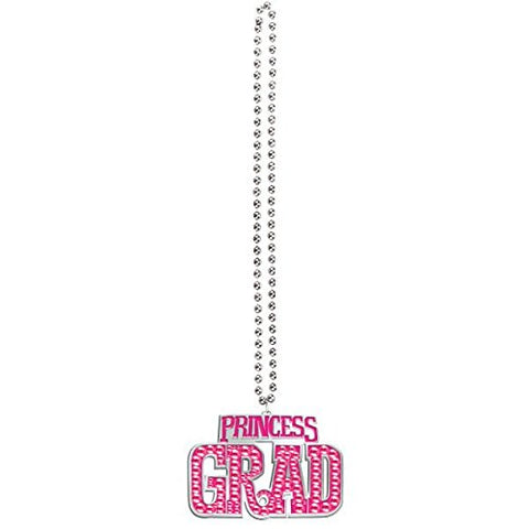 Amscan Princess Grad Bling Plastic Bead Necklace