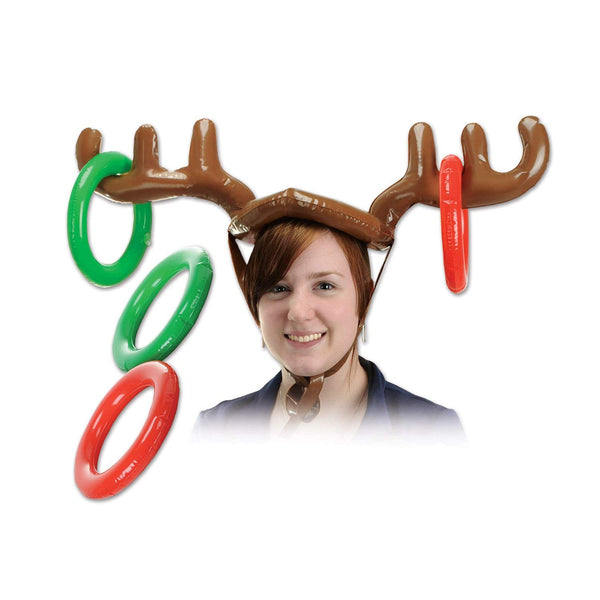 "Beistle 20021 Inflatable Reindeer Ring Toss, 27"" and 7.25"""