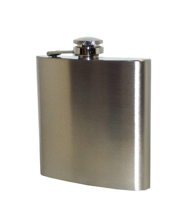 Island Dogs Blow Me Stainless Steel Hip Flask, 6 ounces