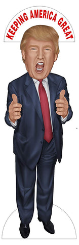 Aahs Engraving President Donald Trump Middle Finger or Thumbs Up Life Size Stand Up, 6 feet