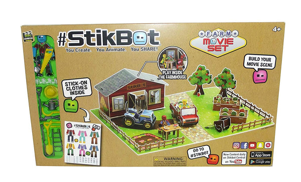 #Stikbot Movie Set Posable Figure with Cutout Set and Accessories