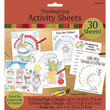Thanksgiving Activity Sheets