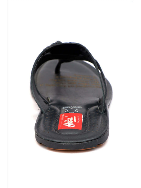 HAVEIT - 3405 BLACK LEATHER SLIPPERS