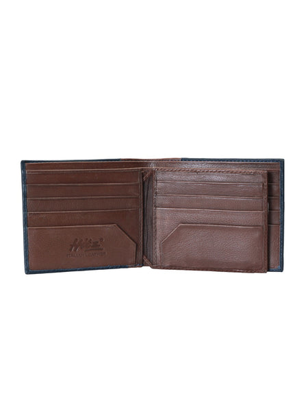 3015A BLUE+BROWN LEATHER WALLETS