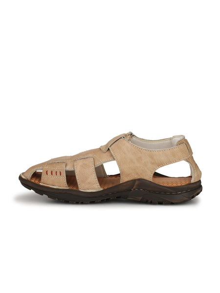 VICTOR - 201 OFF WHITE LEATHER SANDALS