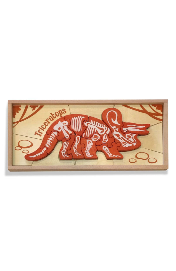 Begin Again - Triceritops Dinosaur Skeleton Puzzle - Seedling & Co.