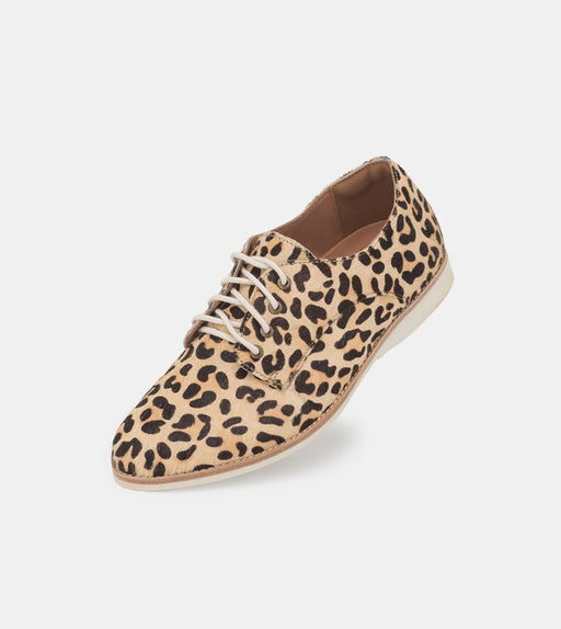 Rollie Derby Camel Leopard Shoes