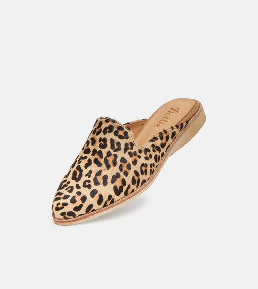Rollie Madison Mule Camel Leopard Shoes