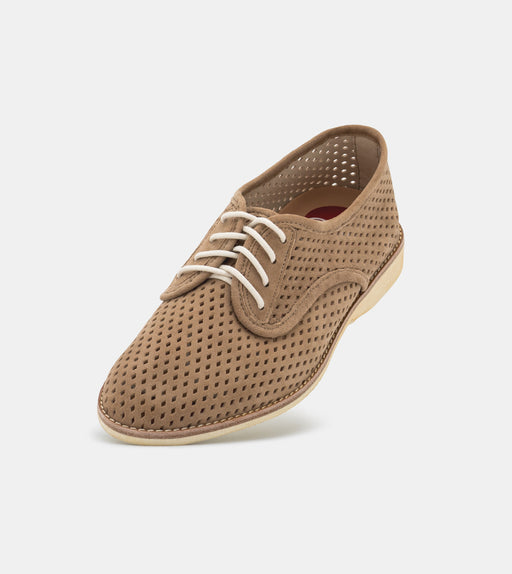 Rollie Derby Punch Taupe Suede Shoes