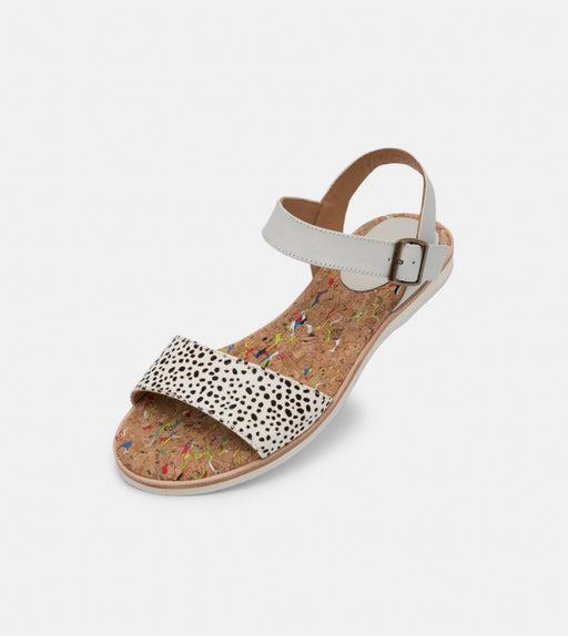Rollie Sandal Snow Leopard/White Shoes
