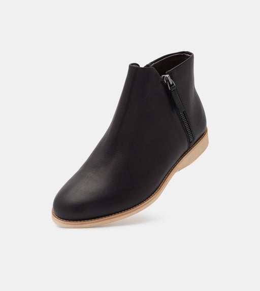 Rollie Side Zip Boot Black Shoes