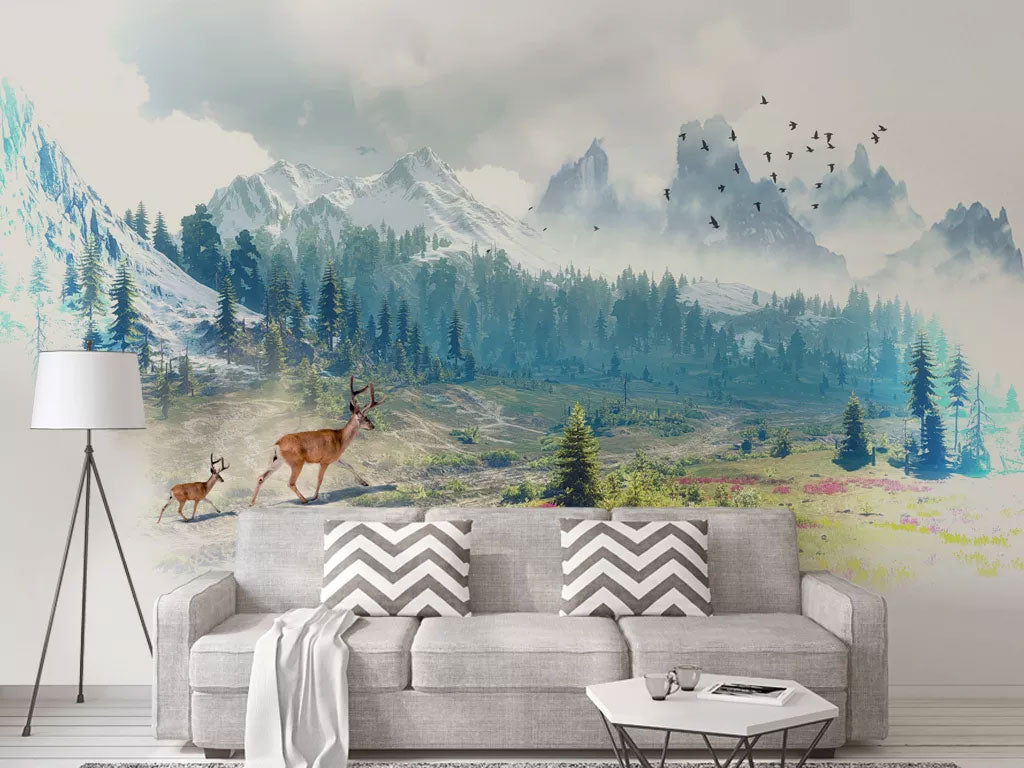 Abstract Full Wall Murals Wallpaper Custom Printed