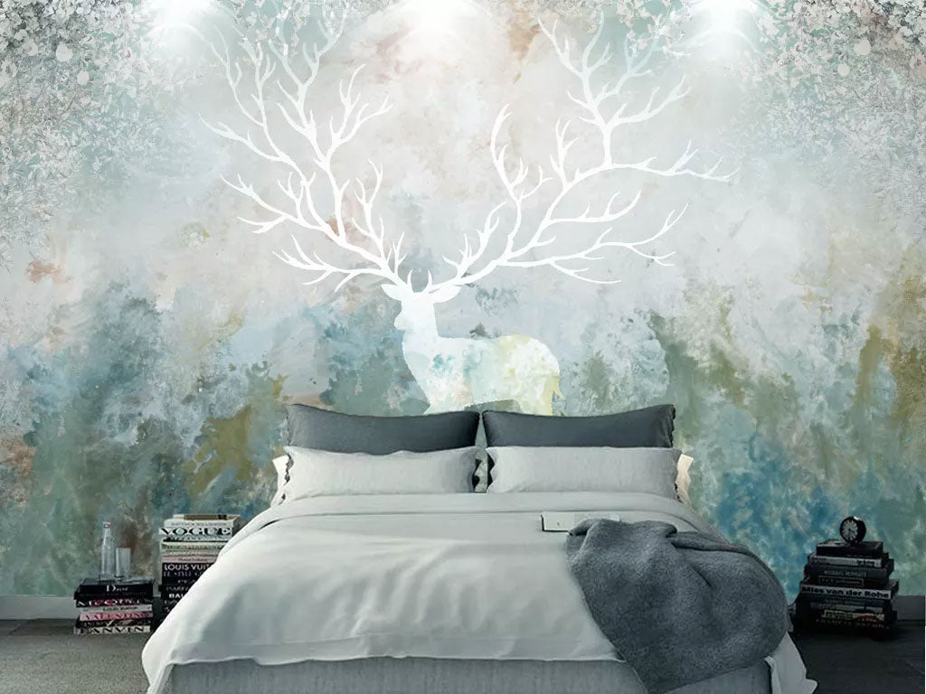 Abstract Elk Design Custom Wall Decal Printing