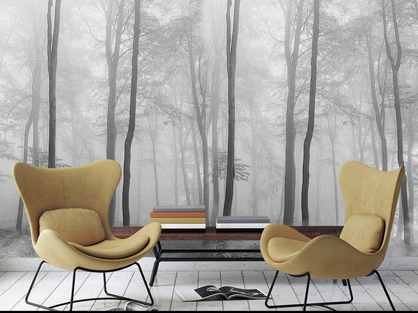 Forest In The Fog Custom Wallpaper Mural