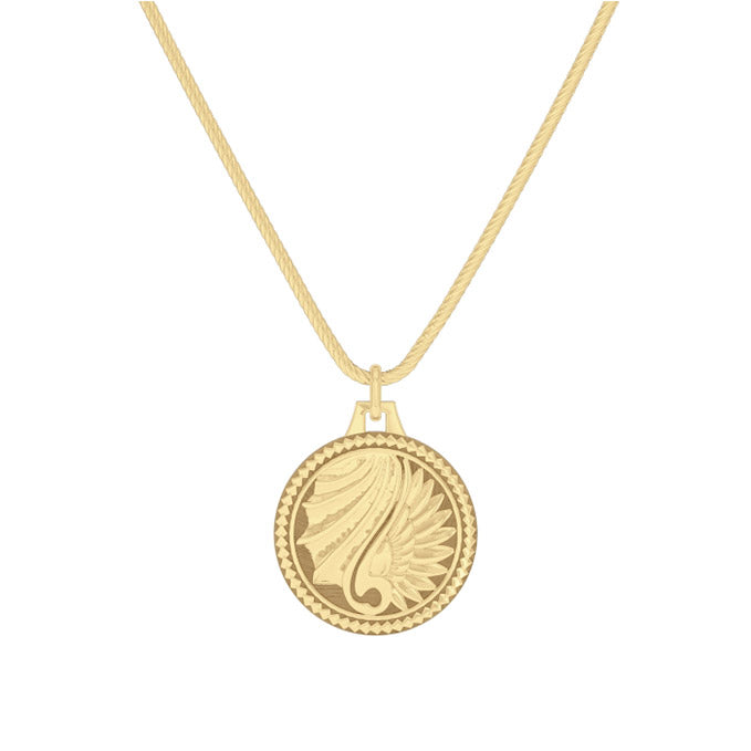 "UFC Max Holloway 30"" Pendant in 14K Yellow Gold"