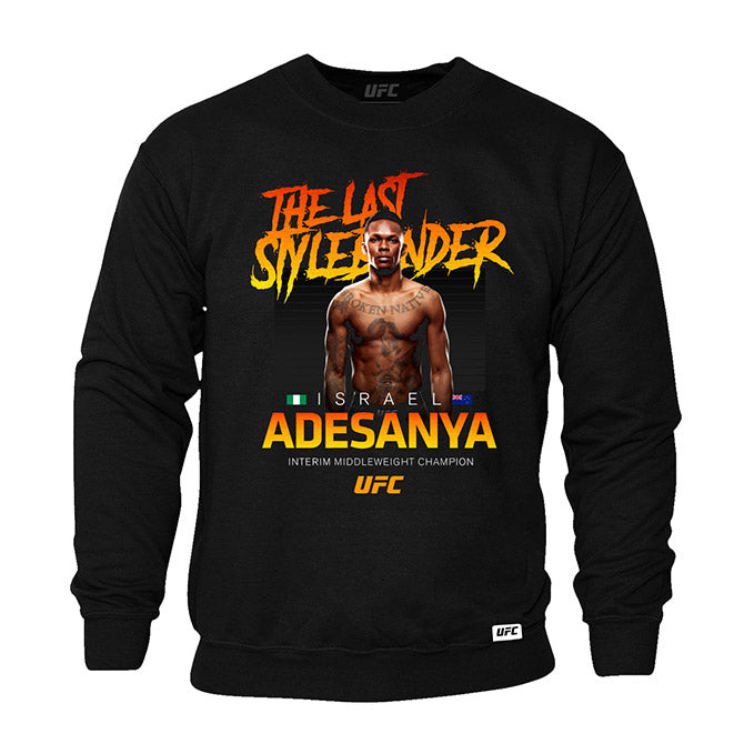 UFC Israel Adesanya Interim Middleweight Champion Crew Sweatshirt