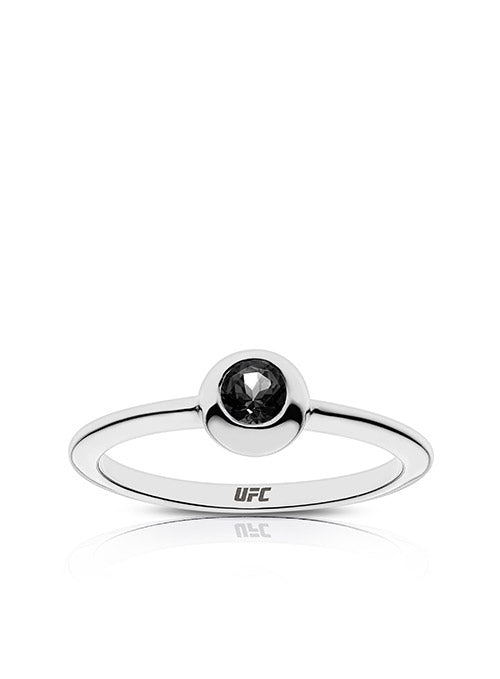 UFC Element Engraved Onyx Ring in Sterling Silver