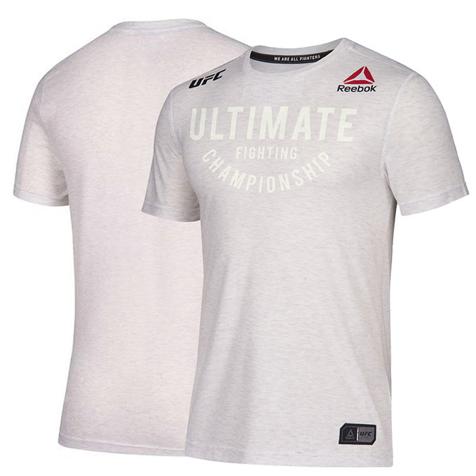 Custom Men's Reebok Chalk Authentic UFC Fight Night Walkout Jersey