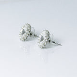 Swarovski Crystal Earrings, side view