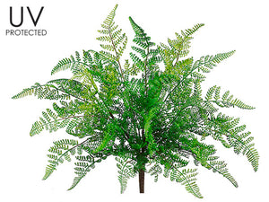 "17"" UV Protected Leather Fern Bush Green (pack of 12)"