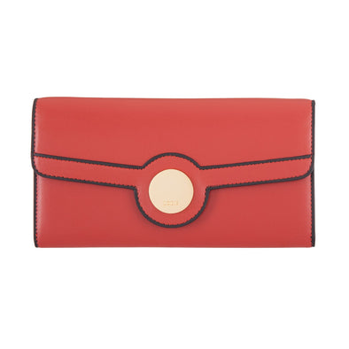 Rodeo RFID Luna Clutch Wallet in Brick