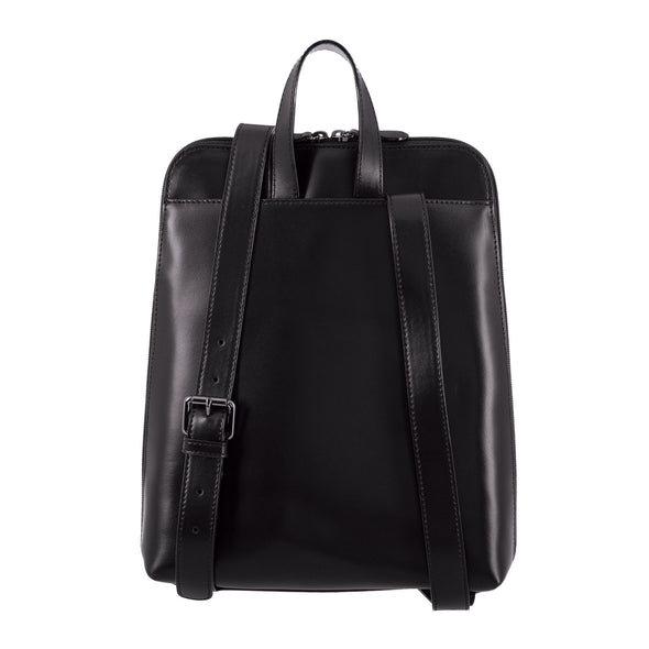Audrey RFID Ryder Tote Backpack in Black/Black