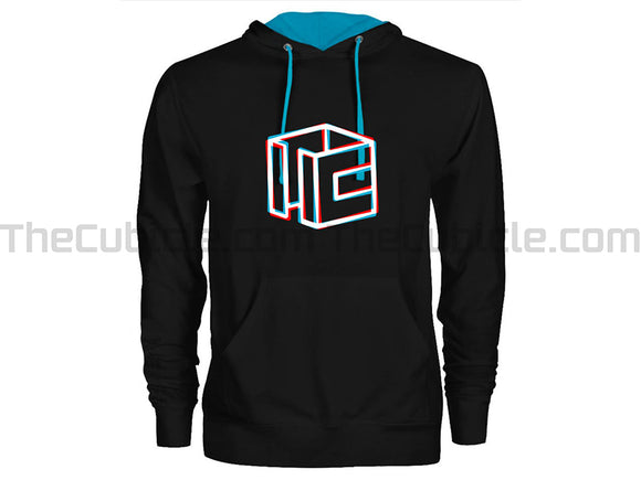 Cubicle Wireframe RBG Hoodie (Black/Blue)