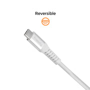 Freedy USB-C to Apple MFi Lightning Charging & Sync cable, 60W max., MFi certified, 79 in. - White