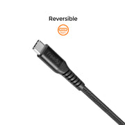 Freedy USB-C to C Charging & Sync cable, 60W max., 39 in. - Black