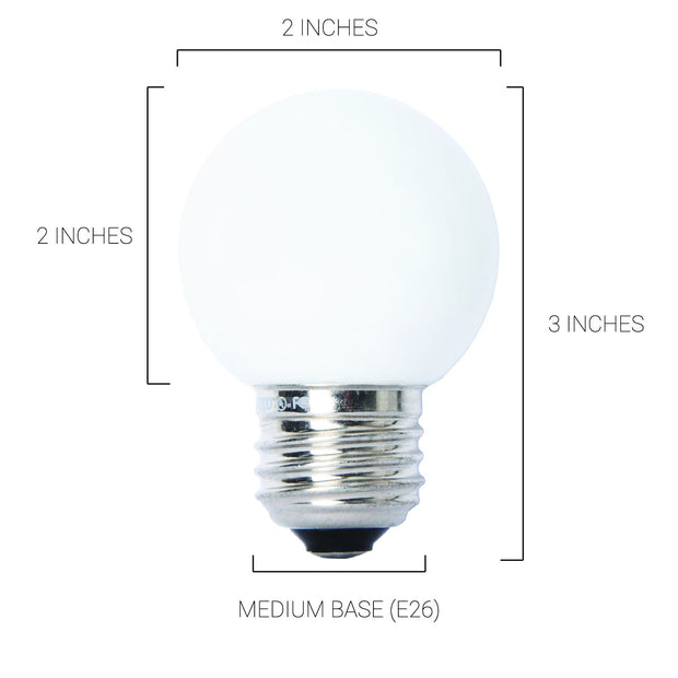 3500K 4.5W LED G16.5 Medium Base 500 Lumens 40 Watt Equivalent Frosted, Fully Dimmable