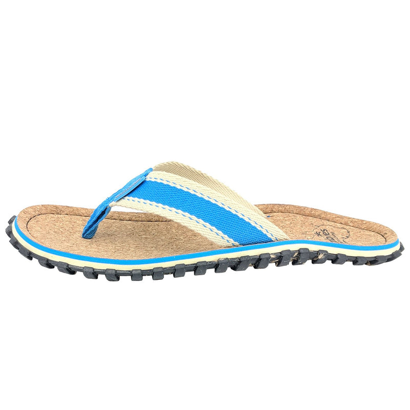 Corker Natural Cork Flip-Flops - Light Blue