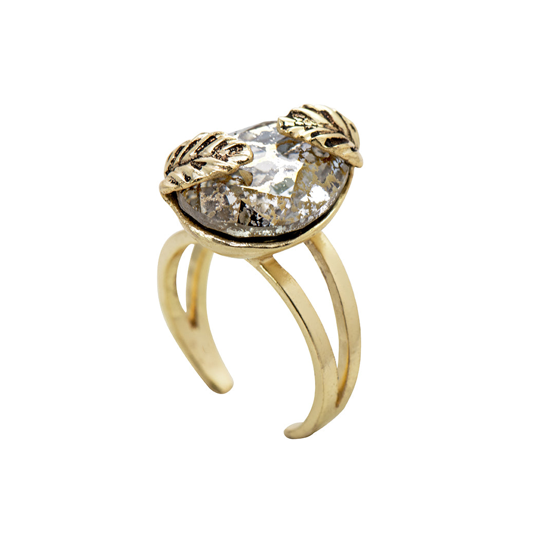 Gold Tones in Statement Ring