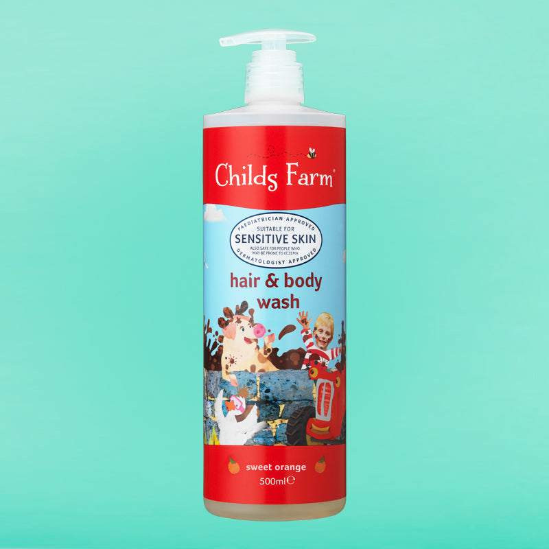 Childs Farm hair & body wash, sweet orange 500ml