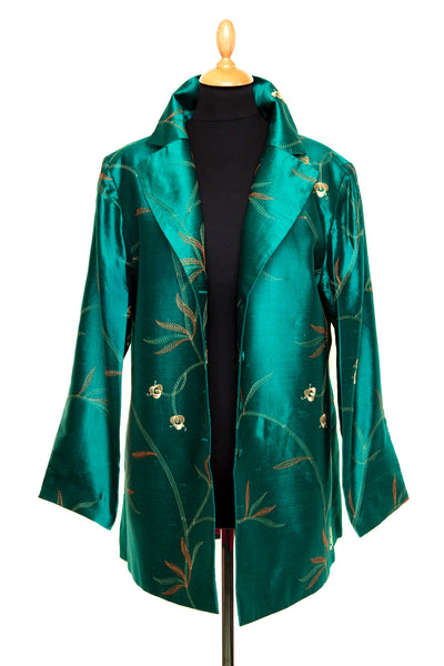 Long European Jacket in Amazon Jade