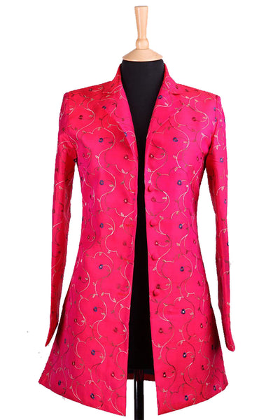 Long European Jacket in Hot Cerise