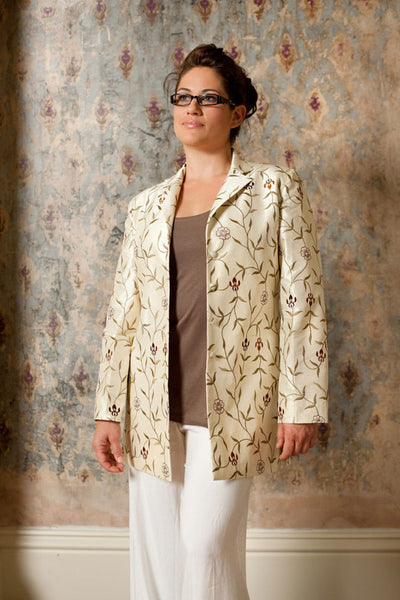 Long European Jacket in Ivory