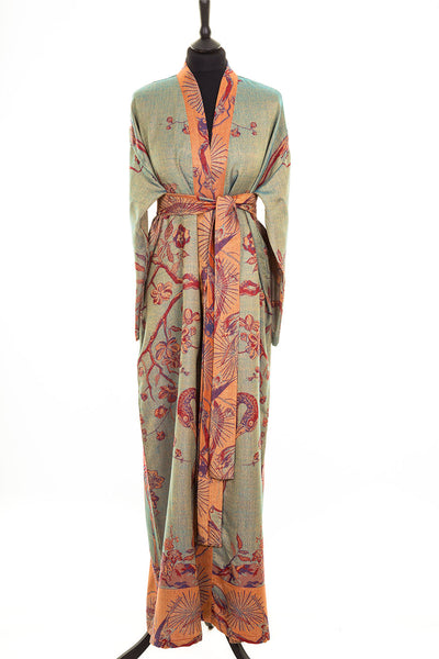 Reversible Dressing Gown in Opaline