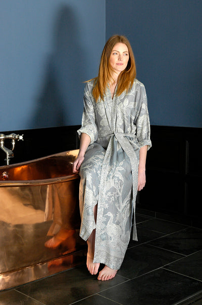 Reversible Dressing Gown in Wedgewood