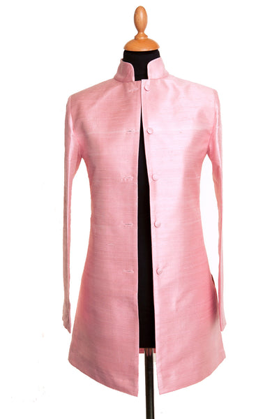 Long Nehru Jacket in Pink Sugar