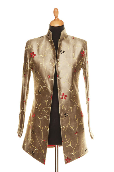 Long Nehru Jacket in Jaipur Gold