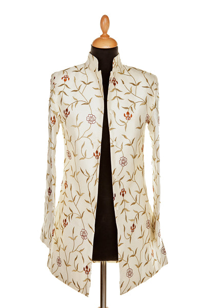 Long Nehru Jacket in Ivory