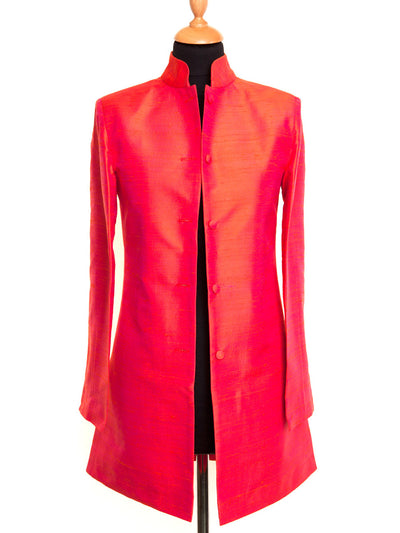 Long Nehru Jacket in Flame