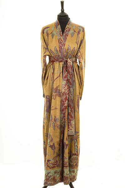 Reversible Dressing Gown in Byzantine Gold
